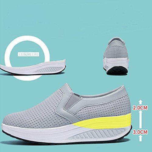 Zapatos Deporte de Zapatos para de Transpirables Gris Ligeros Malla Mujer para Mujer Zapatillas YX8aqC8w