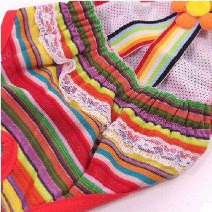 Ellami 3pcs Colorful/comfortable/cosy Pet Dog Cotton Tighten Strap Sanitary Physiological Pants Pet Underwear Diapers,random Color (#12 (waist 13.8''-15'' ))