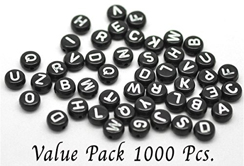 Alphabet Charms Circle - Pony Beads Letters Alphabet 1000 Pcs Size (1/4