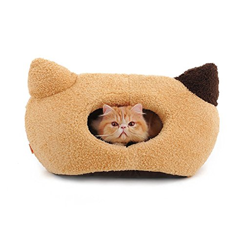 Hoopet Cat Cave House Winter Warm Cat Ear Design