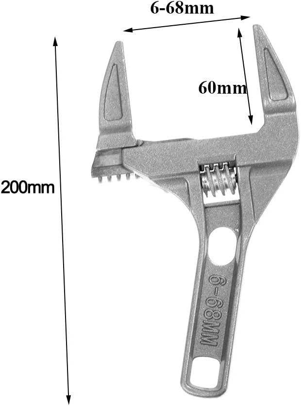 6-68 mm kit de r/éparation universel pour salle de bain avec cl/é /à molette Cl/é /à molette cl/é /à douille /à grande ouverture