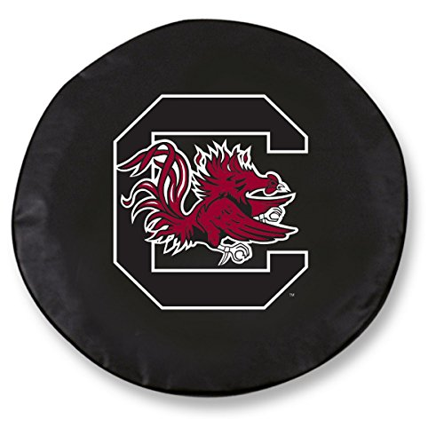 South Carolina Gamecocks HBS Black Vinyl Fitted Car Tire Cover (27