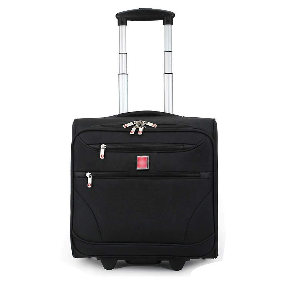 HUIFA 旅行荷物単方向ホイール多機能毎日の搭乗旅行鞄トロリーケースビジネスコンピュータのバックパック18インチ 。 (色 : 黒) B07MW4N6K3 黒