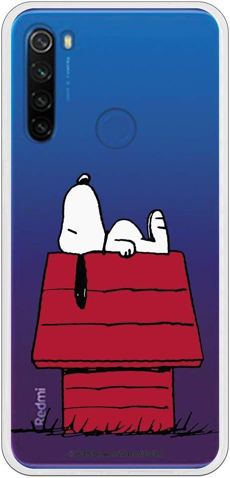 Funda para Xiaomi Redmi Note 8T Oficial de Snoopy Snoopy casa para Proteger tu móvil. Carcasa para Xiaomi de Silicona Flexible con Licencia Oficial de Peanuts.