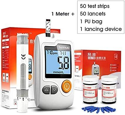 Prueba De Azúcar En La Sangre Kit - Cetona Y La Sangre De Glucosa En Sangre Probador De Controlar Sus Niveles De Cetonas Y Glucosa 50 Prueba De Papel 50 Medida De Agujas