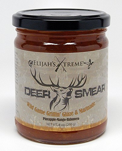 Elijah's Xtreme Deer Smear Wild Game Grillin Glaze and Marinade, Pineapple Mango Habanero Pepper Jelly (8 -