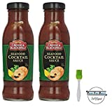 Crosse & Blackwell Seafood Cocktail Sauce, 12 oz (Pack of 2) with Silicone Basting Brush in a Prime Time Direct Sealed...