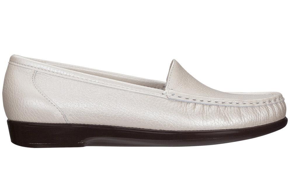 SAS Simple Women's Slip On Leather Loafer B00LXAV1KY 11 (N) Narrow|Pearl Bone