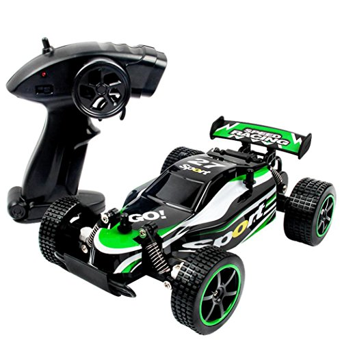 Peniya 2.4Ghz RC Vehicles Racing Cars RTR 2 WD High Speed Waterproof Electronics Monster Remote Control Truck with Rechargeable Battery for Kids,Green (Rc Boats Gas Fast 100 Mph compare prices)