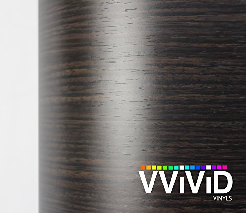 VVIVID Dark Ebony Wood Grain Faux Finish Textured Vinyl Wrap Contact Paper Film for Home Office Furniture DIY No Mess Easy to Install Air-release Adhesive