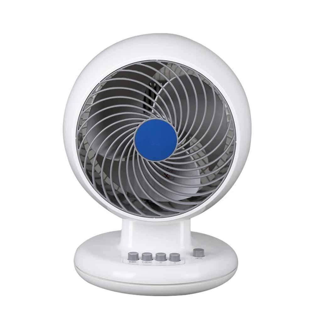 Gelaiken Desktop Fan Home Fan Fan Fan Fan, Home Office Ultra-Quiet Desk Fan Student Dormitory Fan, White,White Table Desk Fan for Home and Travel (Color : White)