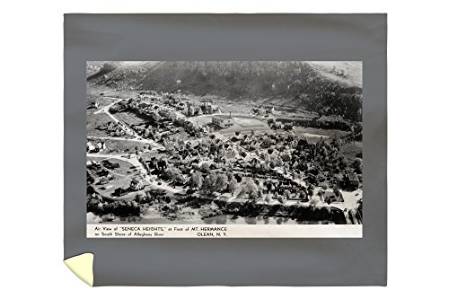 Olean, New York - Seneca Heights Aerial from Mt Hermance Photograph (88x104 King Microfiber Duvet Cover) (Olean New York compare prices)