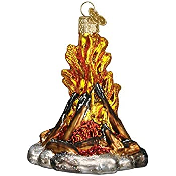 Old World Christmas Ornaments: Campfire Glass Blown Ornaments for Christmas Tree (44057)