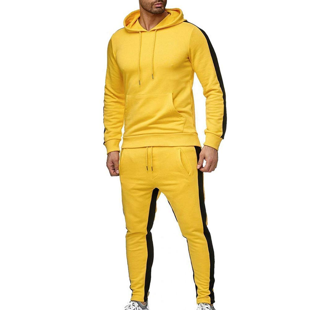 LeerKing Mens Tracksuit Joggers Hoodie Sweatshirt Pants Set Fleece