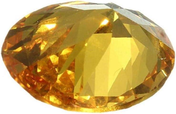 AYRSJCL 1pc 10x14mm Gem Saphir Jaune Non chauff/ée Ovale Forme AAA Naturel en Vrac Pierre Diamant Bricolage Bijoux d/écoratifs Artisanat