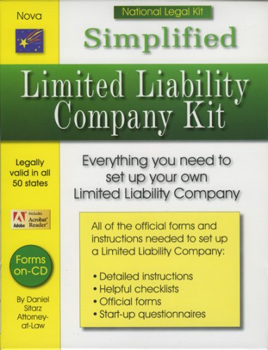 Simplified Limited Liability Company Kit (National Legal Kit) -