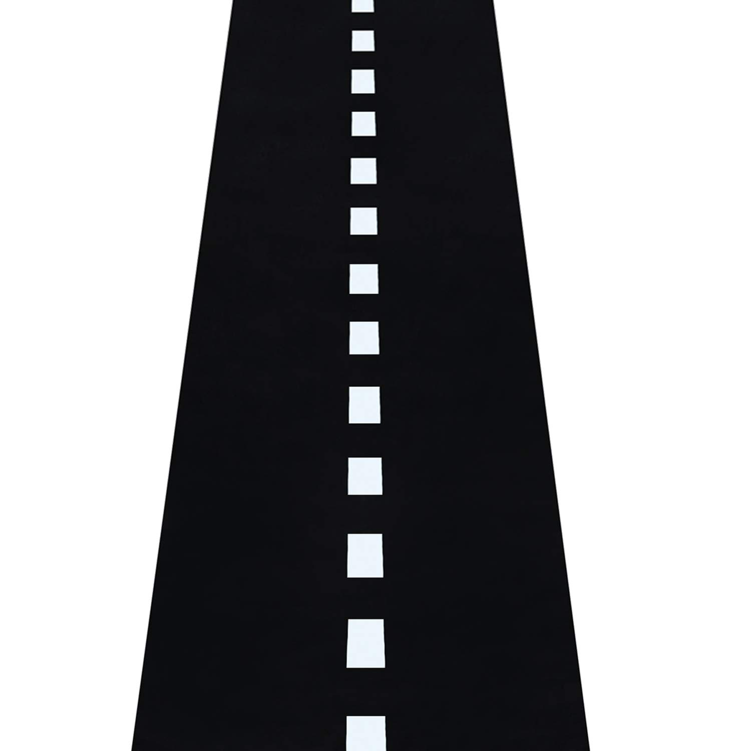 Novelty Place Racetrack Floor Runner - 10 Ft x 2 Ft Black Race Track Running Mat - Sports Race Car Theme Party Entry Table Decorations