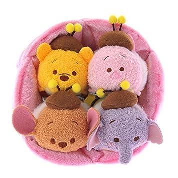 Tsum Tsum HONEYBEE Winnie the Pooh,Piglet,Roo,Lumpy + Flower House set