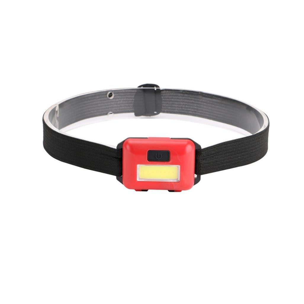 Gaddrt LED 3modalità faro AAA torcia lampada luce regolabile ideale per corsa, passeggiate, bambini, collari, escursionismo, campeggio, o bici–compatto e leggero, Red o bici-compatto e leggero