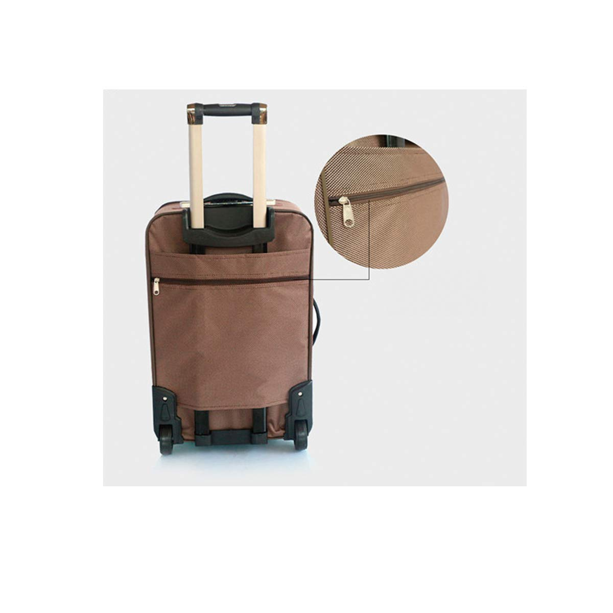 Black The Latest Style Carrying Case Travel Organizer Huijunwenti Soft Rotating Luggage Best Gift Trolley Case 20英寸 Color : Khaki, Size : 20 Simple