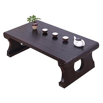 Table Balcon Solide Bois Fenêtre Tatami Petite Table Basse Table