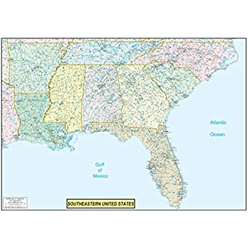 Amazon Com 36x50 Southeastern United States Usa Us