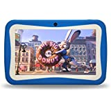 "Kids Tablet PC, 7"" HD Eyes-Protection Screen Android 7.1 1GB RAM 8GB ROM Tablet with WIFI Kids Games & Learning Software Pre-Installed for children's day best gift set (blue)"