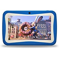 Kids Tablet PC, Powered by Android 7 inch HD Eyes-Protection Screen Google Android 7.1 1GB RAM 8GB ROM Tablet with WIFI Kids Software & Games Pre-Installed for childrens best gift set(sky blue)