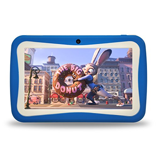 Kids Tablet PC, 7″ HD Eyes-Protection Screen Android 7.1 1GB RAM 8GB ROM Tablet with WIFI Kids Games & Learning Software Pre-Installed for children's day best gift set (blue)