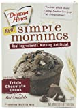 Duncan Hines Simple Mornings Triple Chocolate Chunk Muffin Mix, 18.2-Ounce Boxes (Pack of 4)