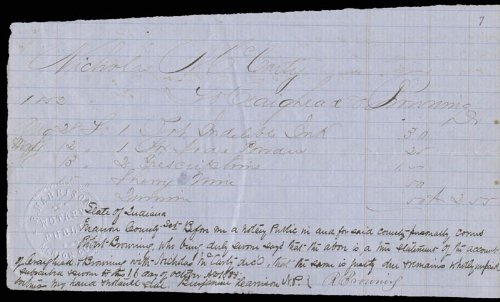 President Benjamin Harrison - Autograph Document Signed 10/16/1853