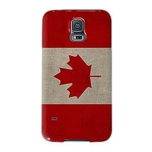 Lienzo Bandera de Canadá, bandera canadiense Full Wrap Case, Carcasa de fijación para Samsung Galaxy S5Impreso en 3d de alta calidad de UltraFlags