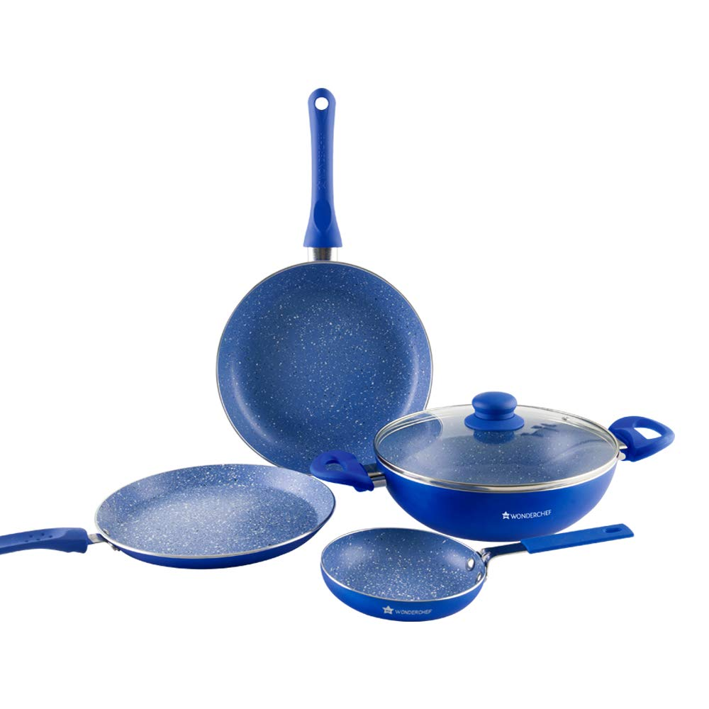 Wonderchef Royal Velvet Induction Base Aluminium Cookware Set