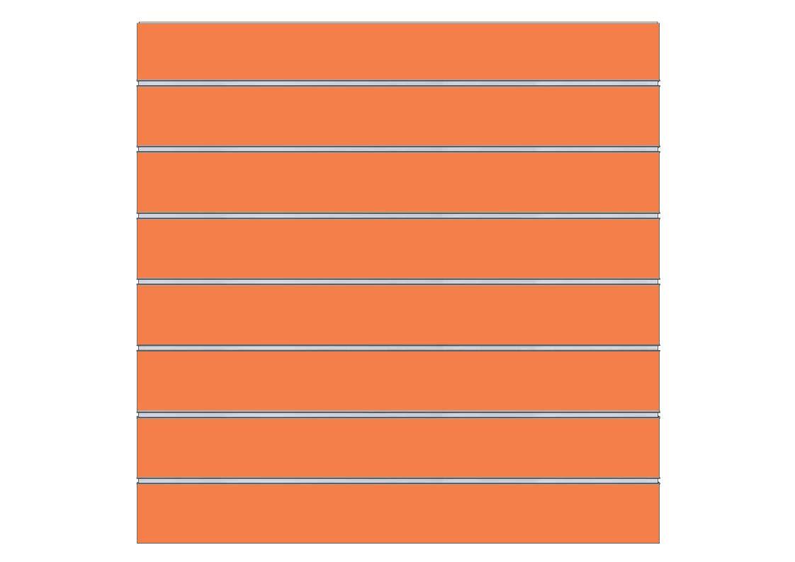 2 unidades de panel de lama 120x100 cm Varios colores 7 guias Rosa