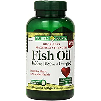 Nature 39 s bounty fish oil 1400 mg 130 softgels for Spring valley fish oil 1200 mg