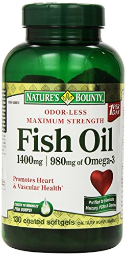 Nature's Bounty Maximum Strength Fish Oil 1,400 mg - 980 mg