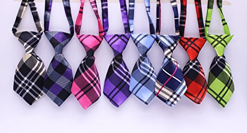 yagopet 10pcs/Pack New Pet Dog Neckties Fashionable Cute Plaid Style Business Designs Dog Ties Adjustable Pet Grooming Products Dog Accessories