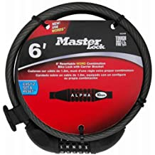 Master Lock 8220D Set Your Own Password Bike Lock Cable, 6-Feet by 3/8-Inch