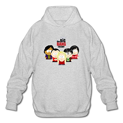 Jirushi Men's The Big Bang Theory Season 9 Pullover Hoodie Ash Medium (Guides Secret Cast Net compare prices)