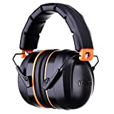 Noise Reduction Safety Ear Muffs, Tacklife HNRE1 Shooters Hearing Protection Ear Muffs, Folding-Padded Head Band Ear Cups, NRR 28dB Professional Ear Defenders, light weight