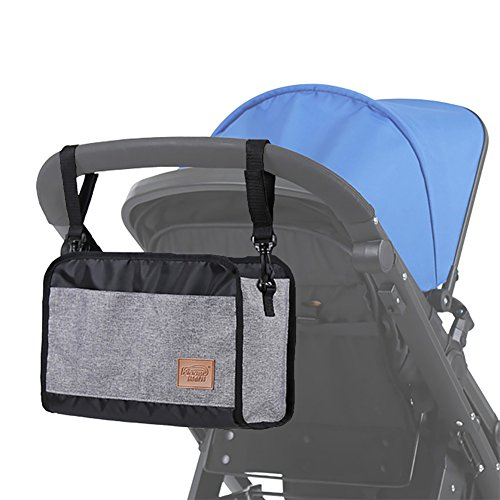 Baby Stroller Organizer for Moms, Large  Storage Space for Baby Products, Stroller Accessory for Storage (Healther Grey)