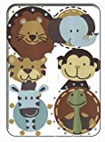 Jungle Animals Tales Single Toggle Light Switch Plate, Baby & Kids Zone