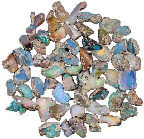 Pour la fabrication de bijoux Sp/écial No/ël Cristaux opales brutes Pierres pr/écieuses en vrac Opale brute naturelle /éthiopienne Cristaux de gu/érison des chakras Assortiment de couleurs