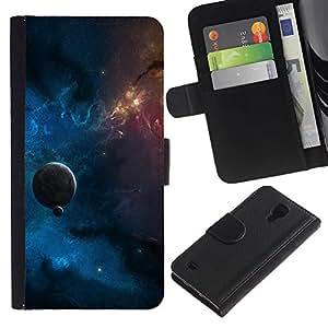 UNIQCASE - Samsung Galaxy S4 IV I9500 - Space Planet Galaxy Stars 14 - Cuero PU Delgado caso cubierta Shell Armor Funda Case Cover