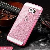 LA GO GO Hybrid Glitter Case with Crystal Rhinestone for Samsung Galaxy S4 i9500 - Pink