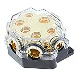 Fenteer 12V-24V Car Fuse Holder 5 Way Distribution Block Audio System Protection