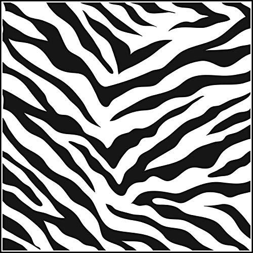 (Stencil 6in x 6in Zebra Print)