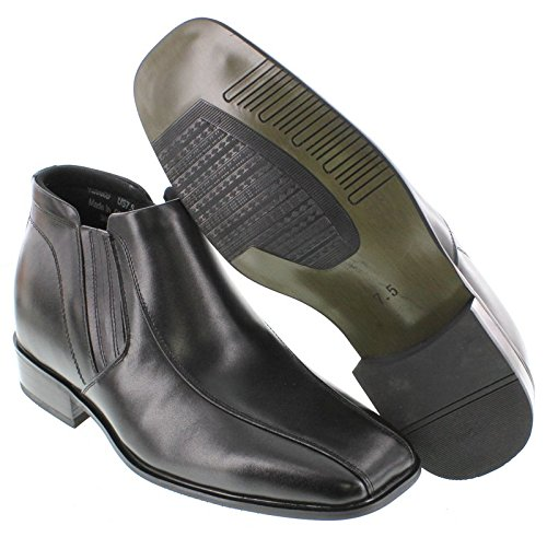 Image of CALDEN - K99805-3.2 Inches Taller Boots - Height Increasing Elevator Shoes (Black Dress Boots) (9 D(M) US)