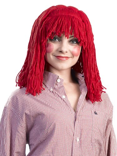 (Enigma Wigs Women's Raggedy Cleo, Red, One Size)