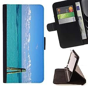 Devil Case- Estilo PU billetera de cuero del soporte del tir¨®n [solapa de cierre] Cubierta FOR Sony Xperia Z3 D6653- Sex on the Beach Sunsine